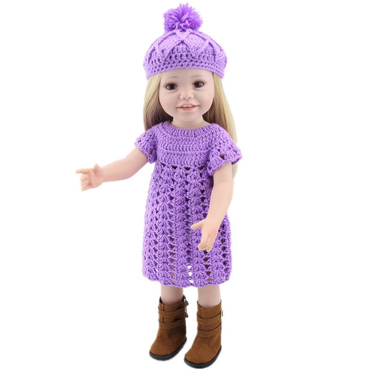 Now available on our store: American Girl Dol... Check it out here! http://toutabay.com/products/american-girl-doll-18-with-fashion-sweaters-and-hat-with-shoes?utm_campaign=social_autopilot&utm_source=pin&utm_medium=pin