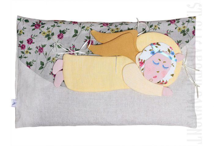 Sleeping Angel Pillow.  $27.00. #CatalogOfGoodDeeds #CatalogOfStElisabethConvent #handmade #eco #toys #kids #souvenir #present #goodparents #bedwarmers #bedwarmers #interiordecorations