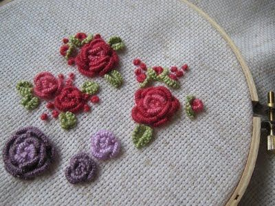 feeling stitchy: Bullion Roses