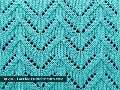 Lace Knitting. #37 Chevron Lace stitch