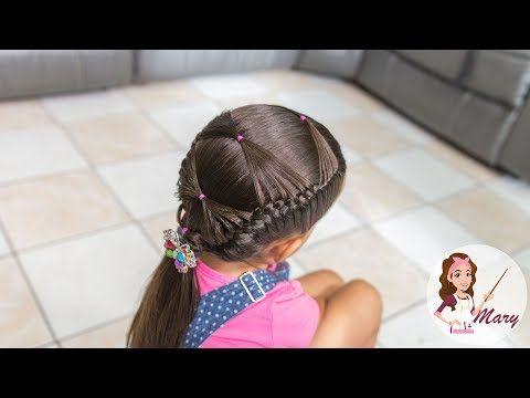 PEINADO DE TRENZAS PEGADAS EN LOS LADOS - YouTube