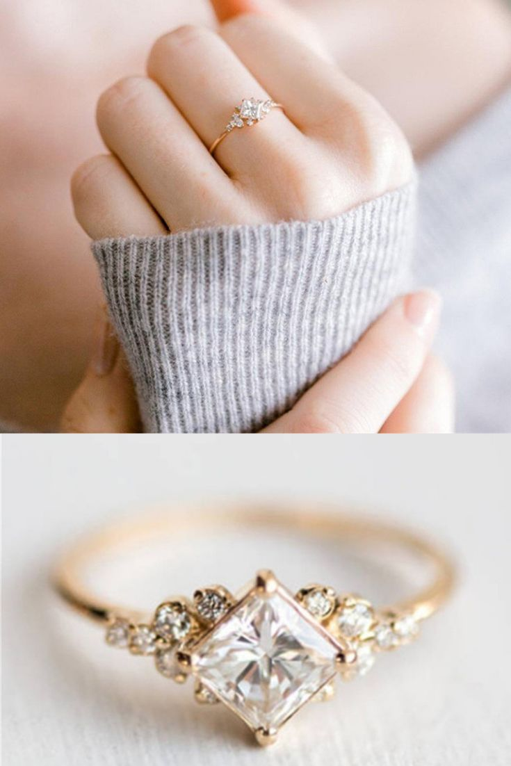 Elegant Gold Rhinestone Ring
