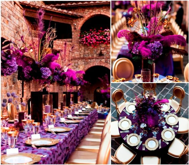 Pink And Gold Wedding Decorations: 17 Best Images About RED Purple Wedding On Pinterest