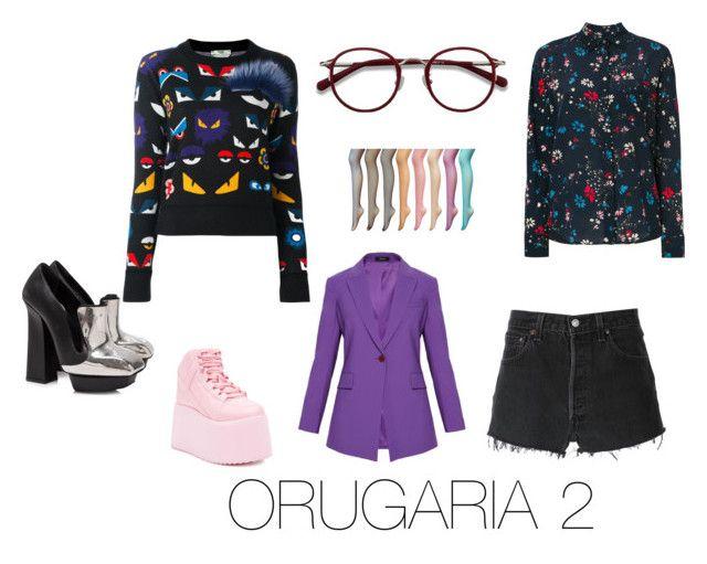 """""""ORUGARIA 2"""" by fsh-style on Polyvore featuring moda, RE/DONE, Fendi, Balenciaga, EyeBuyDirect.com, Alexander McQueen y Y.R.U."""