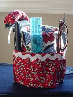 Car Caddy Tutorial... using a cup holder (the kind that hangs from the car window ), a can and fabric!