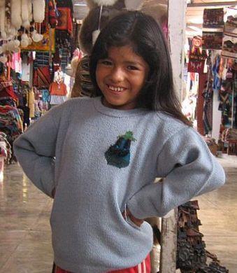 Hellblauer #Kinder #Pullover aus #Alpakawolle