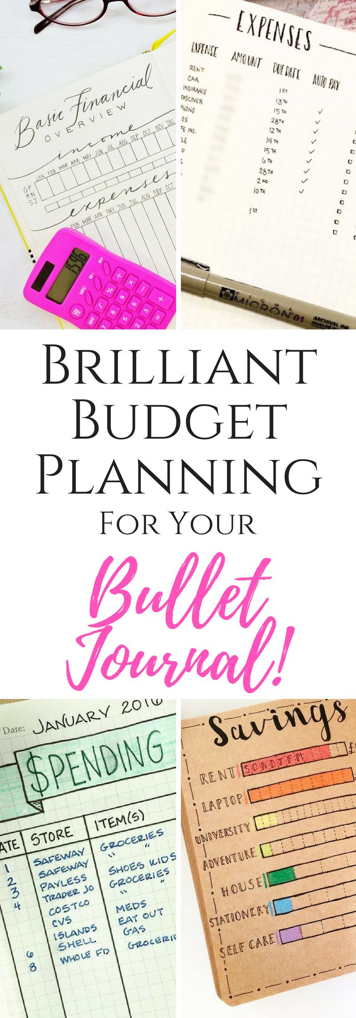 Create the ultimate budget plan with these Bullet Journal trackers!