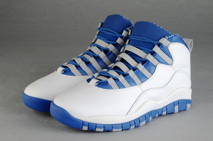 free shipping 38719 fc422 air jordan 10 blue and white