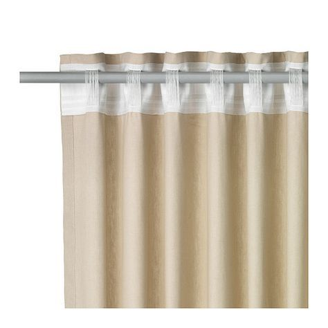 "INGERT Curtains with tie-backs, 1 pair - 57x118 "" - IKEA // Sistema Cortinas Barral sin ganchos"