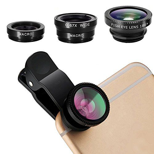 DOKRO Cell Phone Camera Lens Kit, 0.67X Wide Angle Lens + 180° Fisheye Lens & Macro Lens (Attached Together), Clip on 2 in 1 Cell Phone Lens for iPhone 8, 7, 6s, 6, 5s & Android Smartphones  https://topcellulardeals.com/product/dokro-cell-phone-camera-lens-kit-0-67x-wide-angle-lens-180-fisheye-lens-macro-lens-attached-together-clip-on-2-in-1-cell-phone-lens-for-iphone-8-7-6s-6-5s-android-smartphon/  ★2 IN 1 UNIVERSAL CLIP LENS SET: 180 degree fisheye lens, 0.67X wi