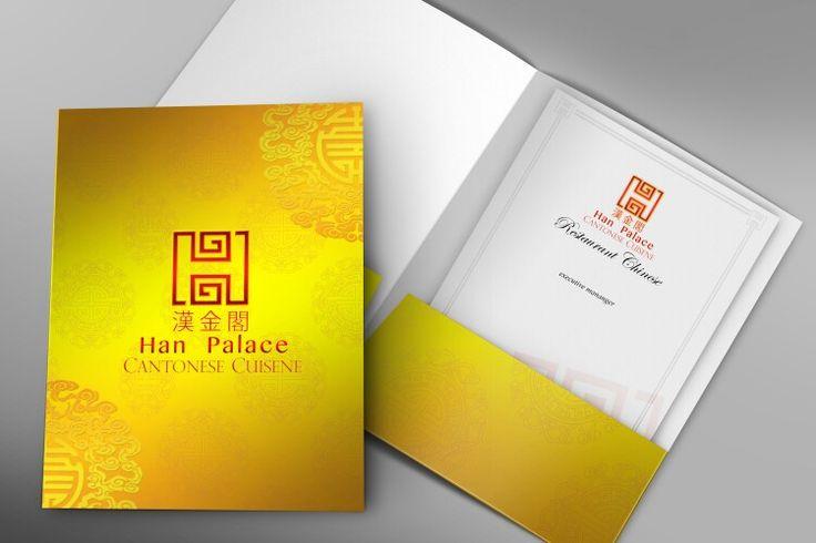 Branding fullder gold Han Palace chinese restaurant