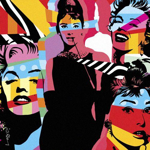 AUDREY & MARILYN | LOBO | POP ART  www.lobopopart.com.br