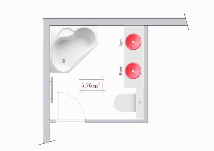 Conseils d 39 architecte 4 plans de salle de bain carr e for Salle de bain d architecte