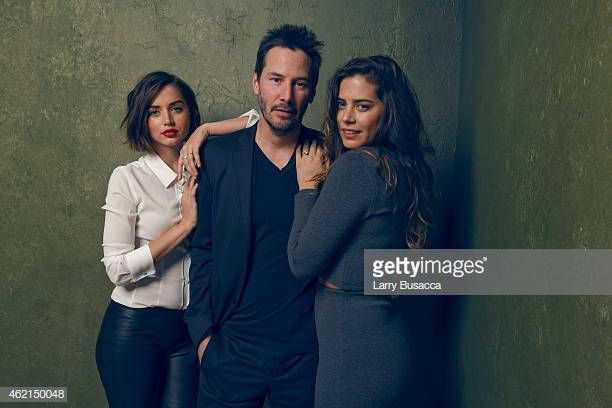 Actors Ana De Armas Keanu Reeves And Lorenza Izzo From Knock Knock Keanu Reeves Actors Keanu Charles Reeves