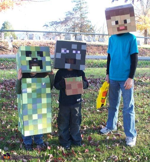Minecraft Creatures - 2012 Halloween Costume Contest
