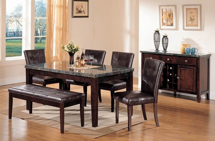Marble Dining Table Set With Bench