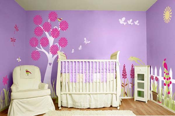 Ideas On Pink And Purple Rooms Baby Room Painting Ideas