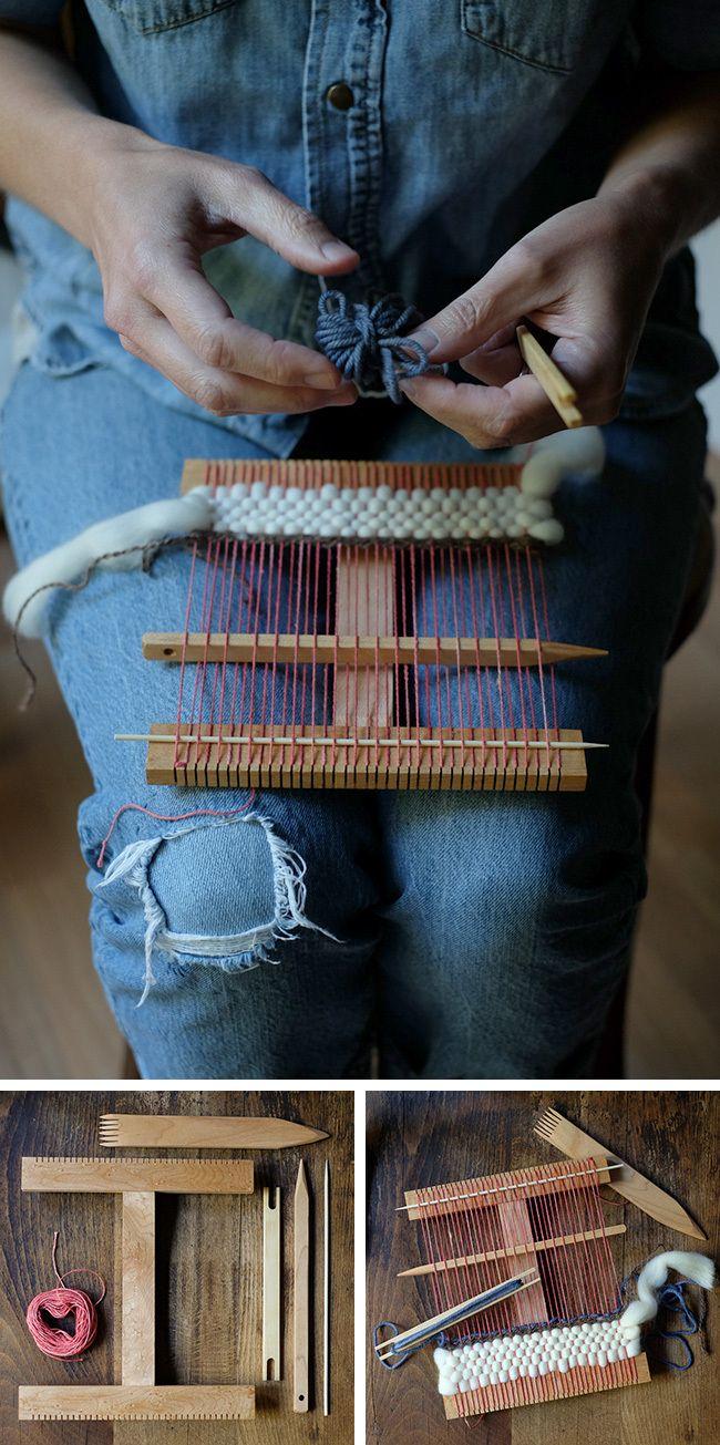 Cómo tejer en un telar de mano   -   How to weave on a hand loom