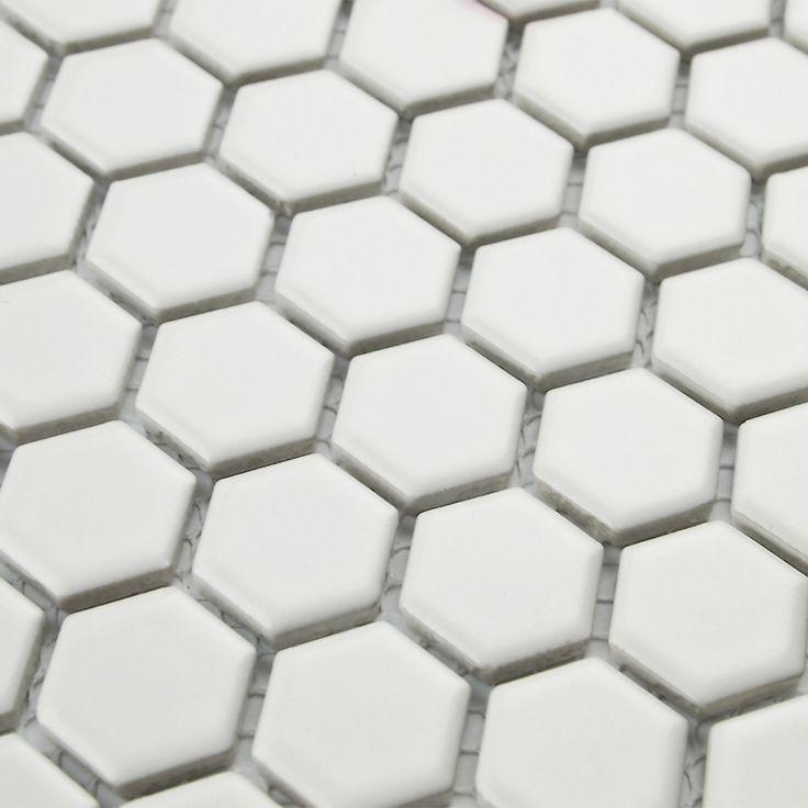 Бесплатная доставка белый шестиугольник керамическая мозаика плитка для гостиной ванная комната душ стены и напольная плитка backsplash кухни прихожей