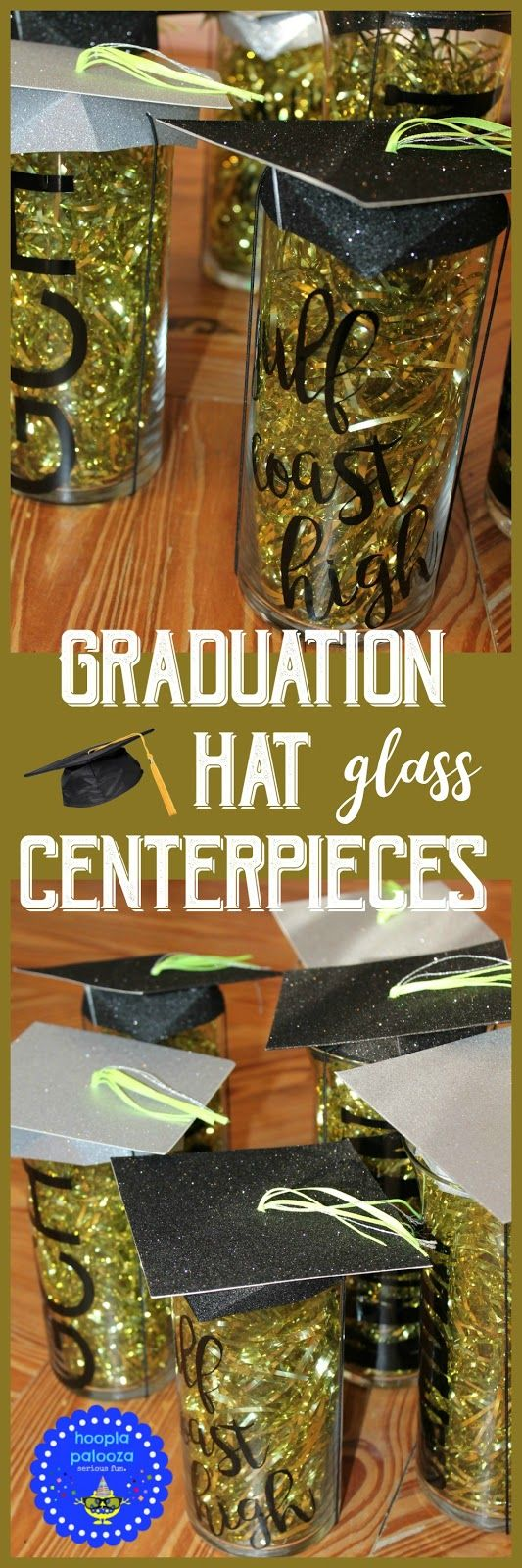 how to make a graduation hat centerpiece