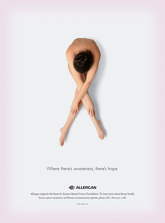 Breast Cancer Advertising  ** This is a great photo. this, but with pink covering over me