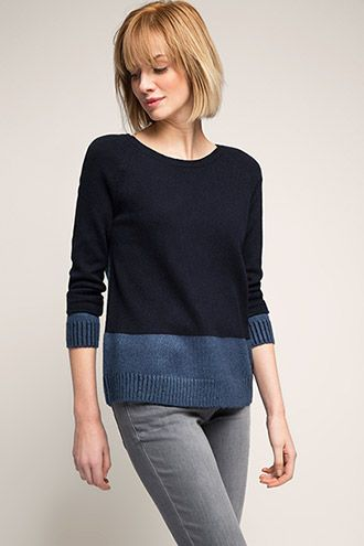 EDC / bi-colour sweater with a zip