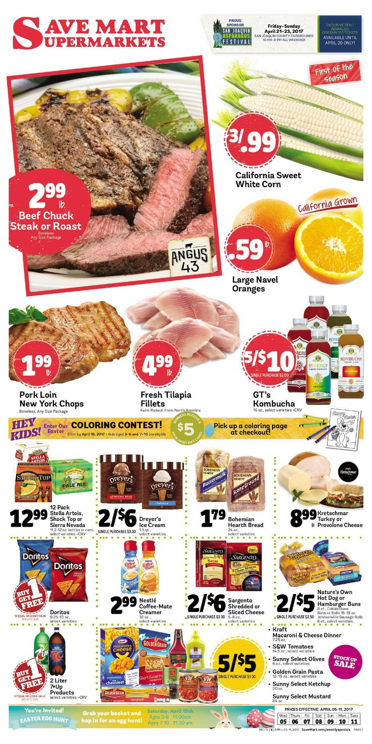 Save Mart Weekly ad April 5 - 11, 2017 - http://www.olcatalog.com/save-mart/save-mart-weekly-ad.html