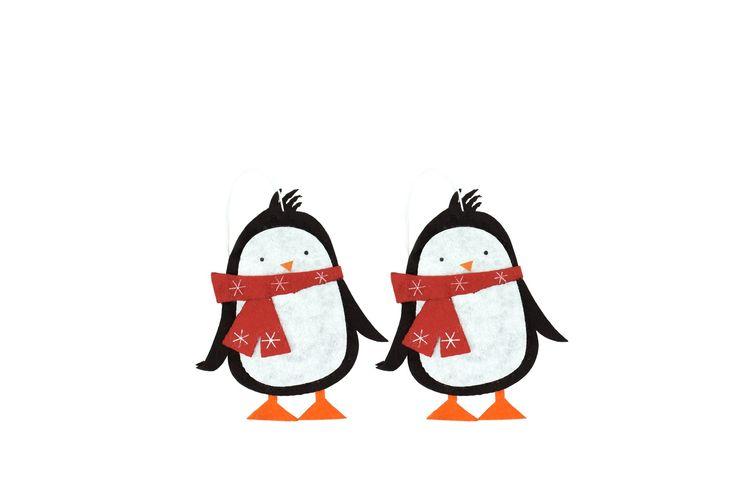 Zawieszki filcowe pingwiny, Duka 7,90 zł
