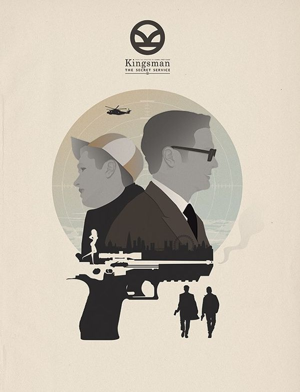 Kingsman: The Secret Service (2014) ~ Alternative Movie Poster by Matt Needle #amusementphile