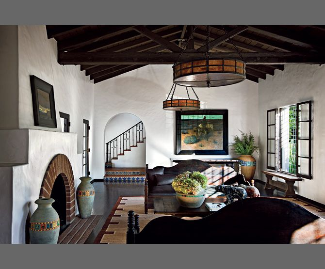 diane keatons spanish colonial revival style mansion - Spanish Home Interior Design