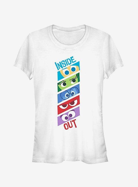 0afe80537a7 Disney Pixar Inside Out Emotion Eyes Girls T-Shirt in 2019