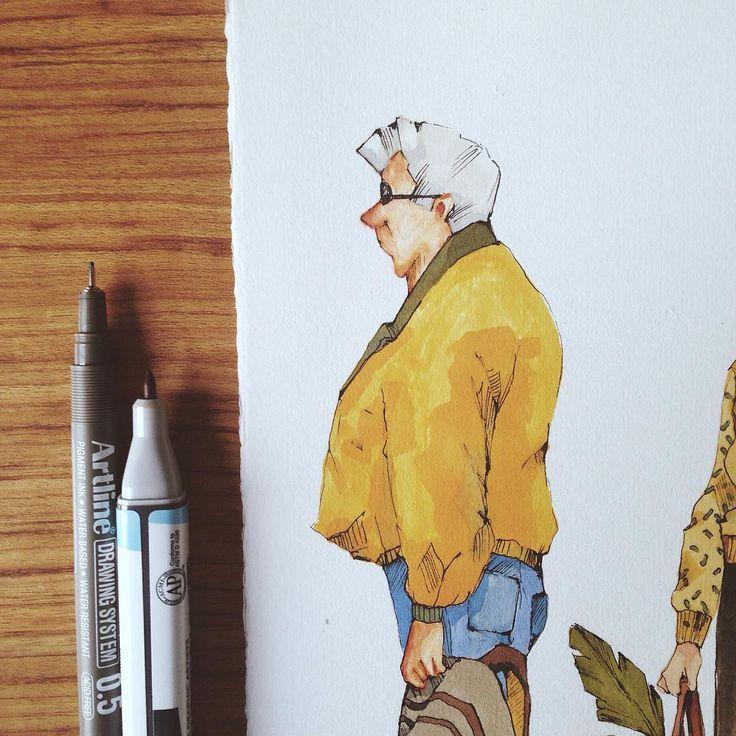 Benim eserimin de bulunduğu 15 nisan'da Adasanat'da gerçekleşecek olan Değiş Tokuş sergi eserimden mini bir spoiler eserin tamamını görmek ve teklif vermek isteyenleri cuma günü sergiye bekleriz kaçırmayın  #illustration #design #drawing #characterdesign #art #artoftheday #copic #degistokussergi #painting  @degistokussergi