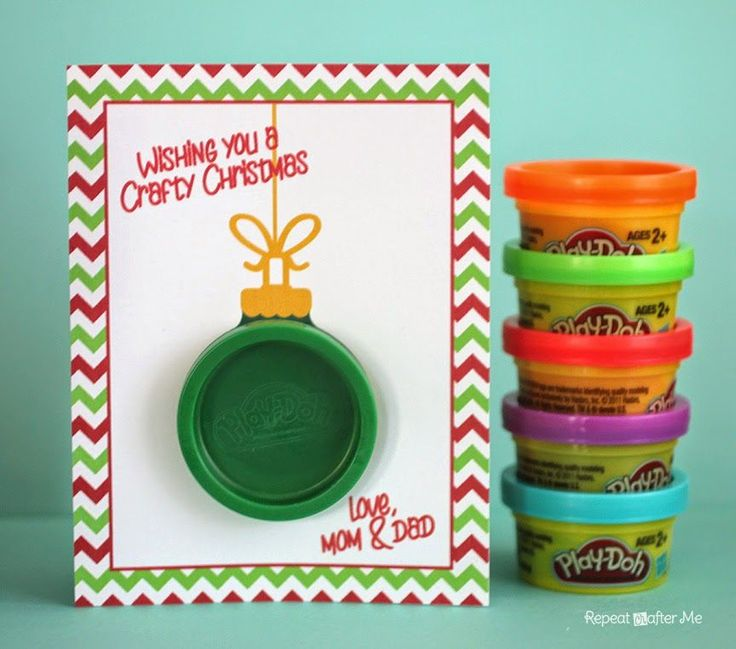Repeat Crafter Me: Play-Doh Ornament Gift Card Check out more from HangSafe Hooks on Pinterest or visit our web-sight at HangSafe Hooks.com