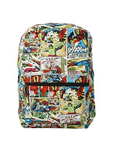Marvel Avengers Heroes Comics Strip 16 Backpack   Thor, Hulk, Iron Man and Captain America. #Marvel #Avengers #Heroes #Comics #Strip #Backpack #Thor, #Hulk, #Iron #Captain #America