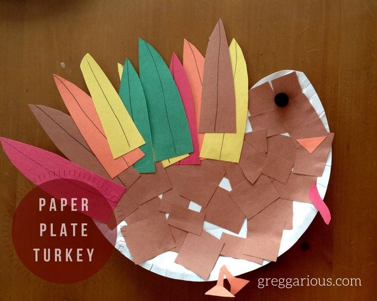 paper plate turkey activity