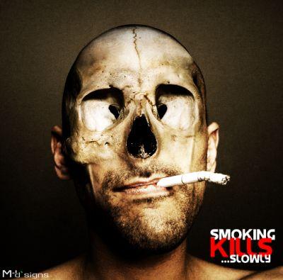Smoking kills Slowly