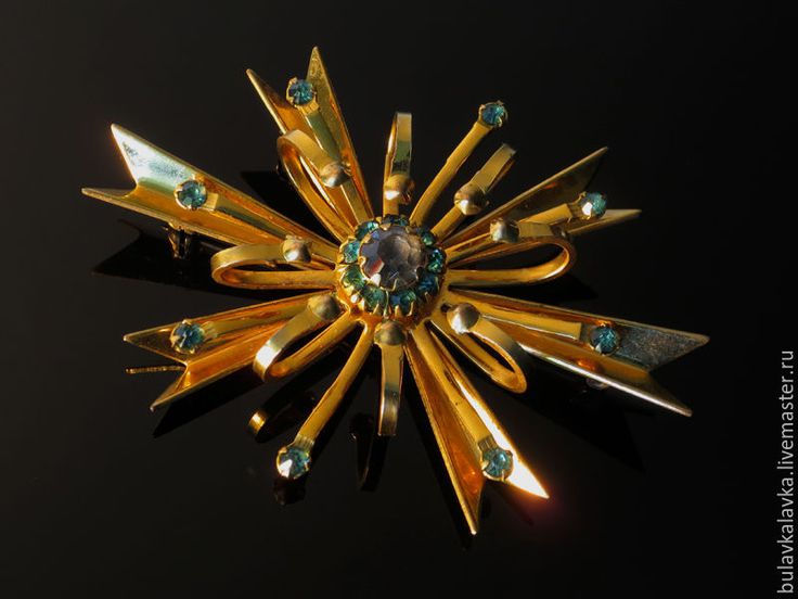 Купить Vargas винтажная брошь 1/20 10 K G.F. - золотой, винтажные украшения