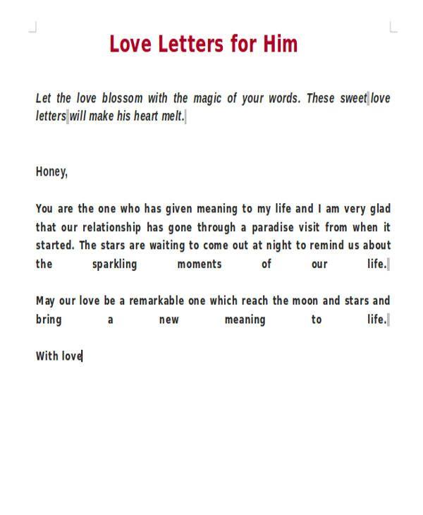 Love Letters For Him Letter For Him Love Letter Sample Love