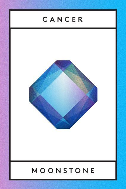 """The Meaning Behind Your Zodiac Birthstone #refinery29  http://www.refinery29.com/zodiac-birthstones#slide-16  The Sign: CancerThe Stone: MoonstoneAlternate Stones: Emerald, labradorite, and opal """"Moonstone is known for its beautiful, iridescent sheen, which is referred to by gemologists as 'adularescence,'"""" explains Phillips. This means the stone's molecular structure makes it glow from within.   """"In ancient India,"""" Phillips contin..."""