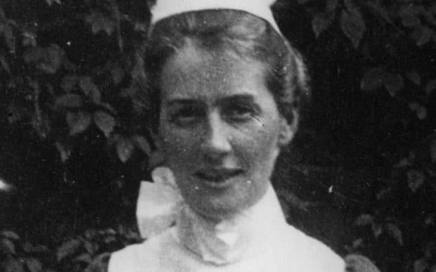 Edith Cavell, a British nurse during WWI and was executed by firing squad for helping Allied soldiers to escape occupied Belgium