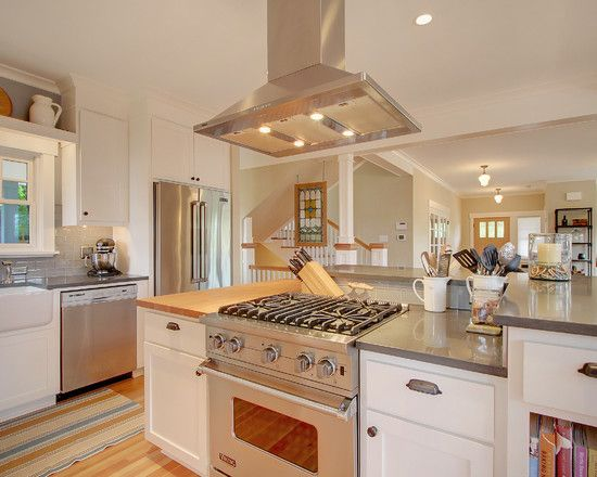 Kitchen Kitchen Islands Gas Top Design, Pictures, Remodel, Decor and Ideas - page 18; 2 level island