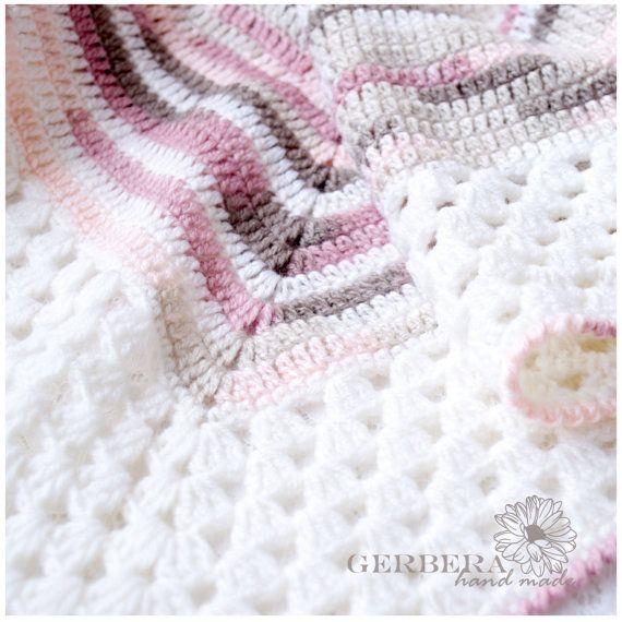 Crochet Baby Girl Blanket / Pastel Baby Afghan  by GerberaHandmade, $80.00