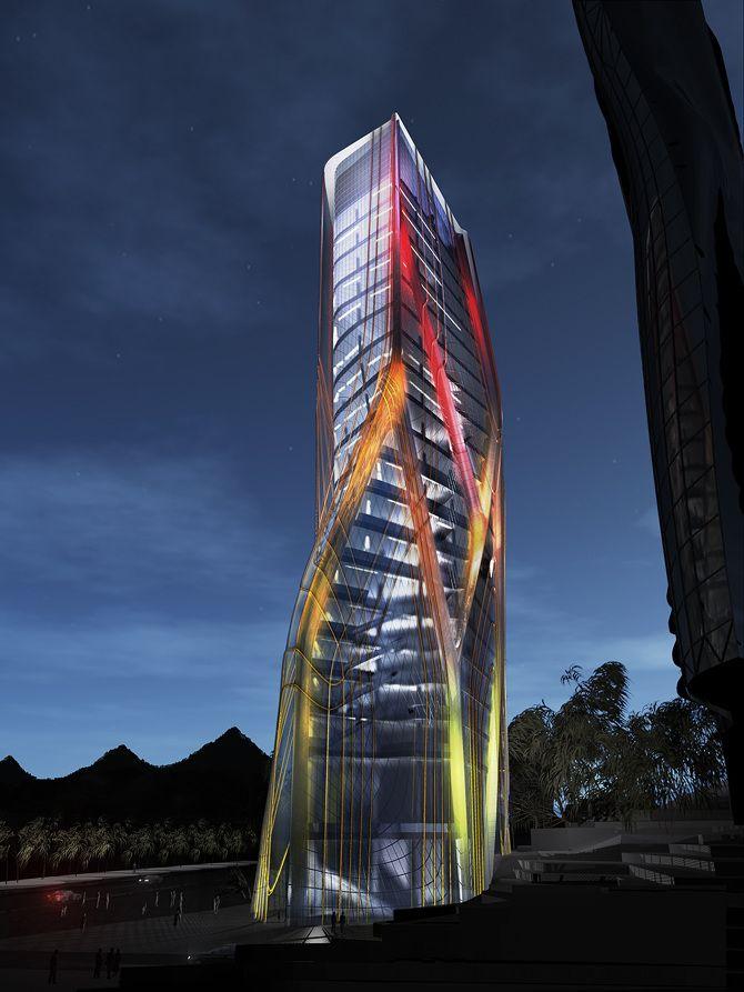 HUAXI TOWER | Tom Wiscombe | 2008  #Guiyang #China