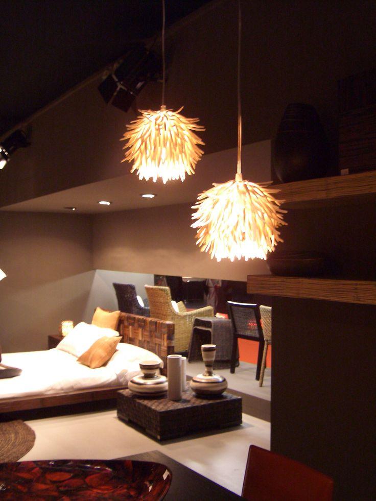 """Lampade sospensioni realizzate in """"Cocco"""" diametro cm.25/30 , lampada E14 max 60Watt."""