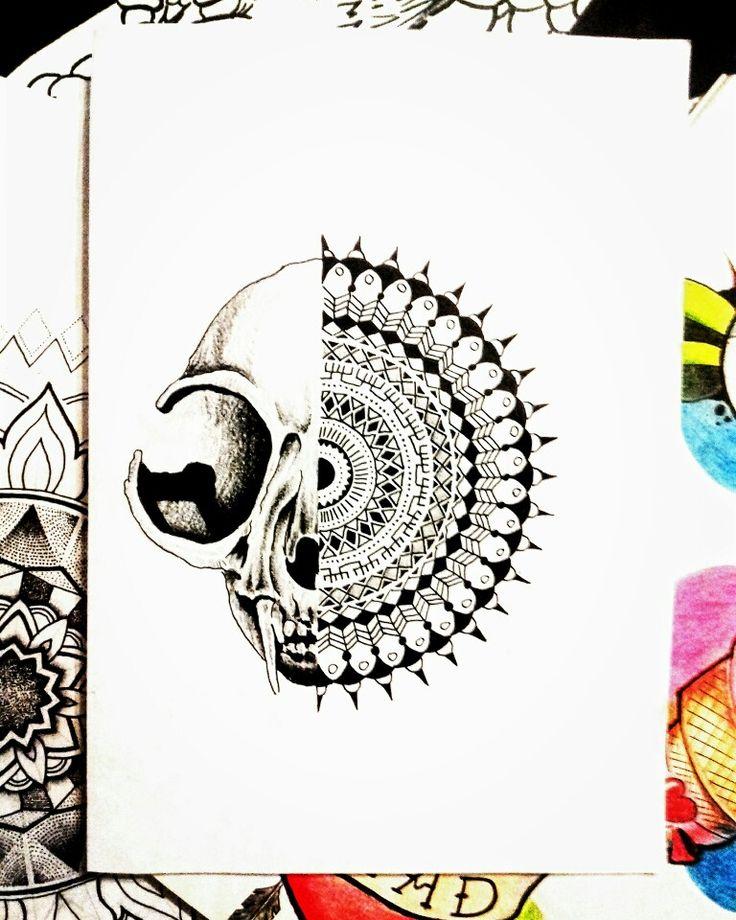 Mandala and skull