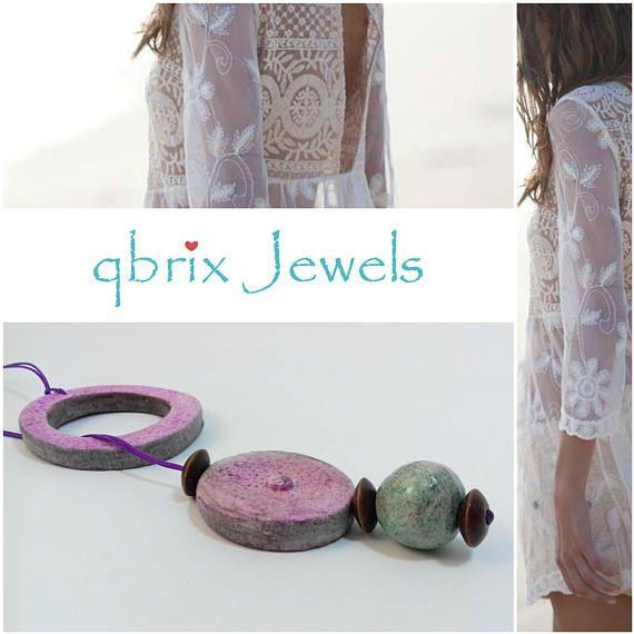 Romantic necklace in summer color palette Unique necklace Air