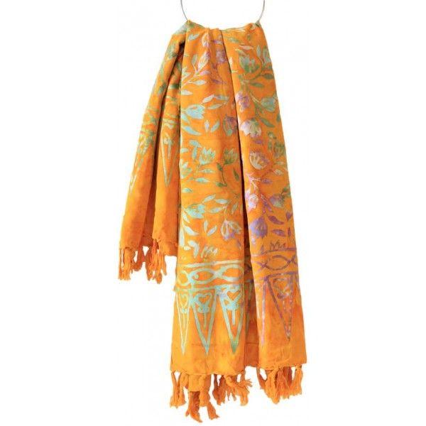 Original Balinesische Sarongs/Strandtücher, gelb-beige. In Handarbeit produziert. Jedes #Sarong ist ein Unikat! http://editee.de/specials.html