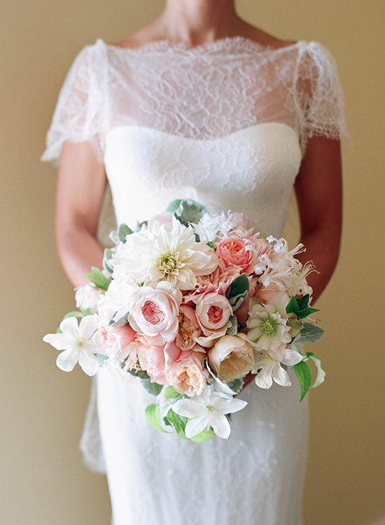 romantic bridal bouquet by Camellia Floral Design