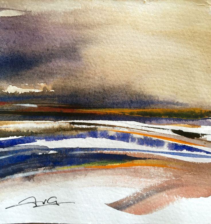 Estuary, watercolour