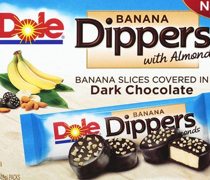 Decadent Desserts—150 Calories and Under! Dole Banana Dippers With Almonds, 120 calories per pack #SelfMagazine